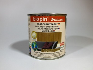 BIOPIN beltéri lazúr mogyoró 0,375 l | BIOPIN
