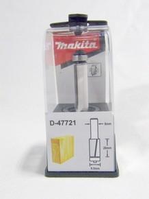 Marófej, marókés, szintbemaró kés befogás: 8 mm, átmérő: 9,5 mm, hossz: 26 mm, csapágyas | MAKITA D-47721