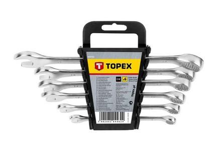 Csillag-villáskulcs készlet 8 mm - 17 mm 6 részes | TOPEX 35D755