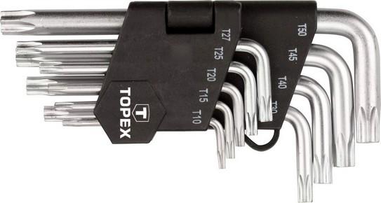Imbuszkulcs készlet T10 - T50  9 részes, torx |TOPEX 35D960
