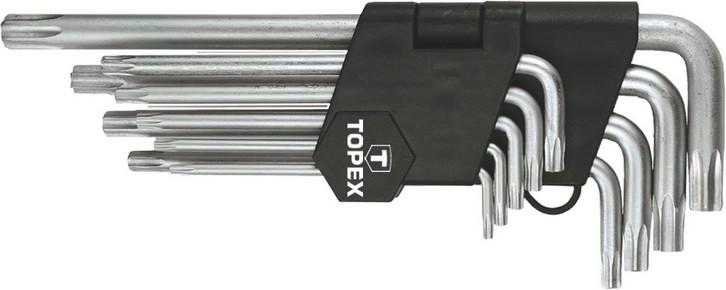 Imbuszkulcs készlet T10 - T50 torx 9 részes,  | TOPEX 35D961