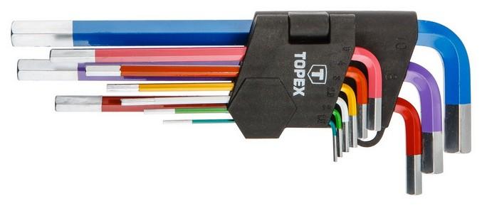 Imbuszkulcs készlet 1.5 mm - 10 mm 9 részes | TOPEX 35D966