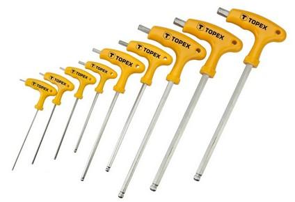 Imbuszkulcs készlet, torx kulcs készlet 9 részes, L nyelű   TOPEX 35D968