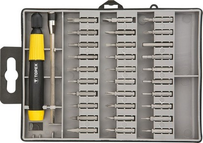 Bit készlet, behajtó készlet 31 részes | TOPEX 39D555