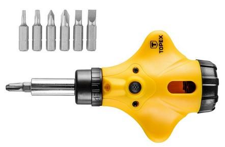Csavarhúzó készlet és bit készlet 8 részes | TOPEX 39D891