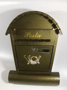 Postaláda, levélszekrény 30 cm x 38 cm x 8 cm SPI-2 arany  újságtartós, íves | 1240111
