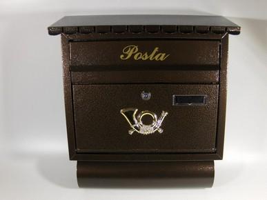 Postaláda, levélszekrény 35 cm x 38 cm x 12 cm SPI-5 bronz újságtartós | 1240135