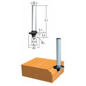 Marófej, marókés, kerekítő kés befogás: 6 mm, átmérő: 22,2 mm, rádiusz: 4,8 mm | MAKITA D-48468