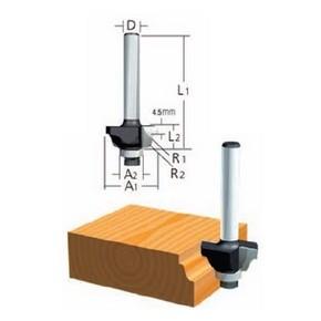 Marófej, marókés, profilmaró kés befogás: 8 mm, átmérő: 38,1 mm, munkahossz: 16 mm | MAKITA D-48789