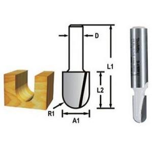 Marófej, marókés, kerekítő kés befogás: 6 mm, átmérő: 17 mm, rádiusz: 2,3 mm | MAKITA D-47802