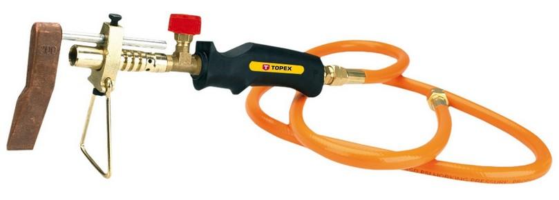 Gáz forrasztó készlet, bádogos forrasztó készlet 2 kW, 1,5 m csõvel | TOPEX 44E118