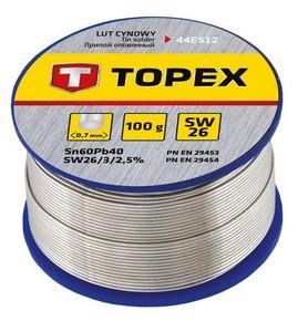 Forrasztó ón 0,7 mm 100 g | TOPEX 44E512