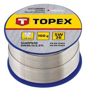 Forrasztó ón 1 mm 100 g | TOPEX 44E514
