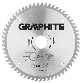 Körfűrésztárcsa, körfűrészlap 185 mm / 30 mm Z60 | GRAPHITE 55H601