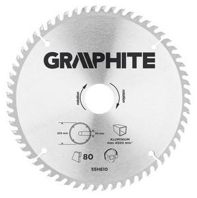 Körfűrésztárcsa, körfűrészlap 210 mm / 30 mm Z100 alumíniumhoz | GRAPHITE 55H610