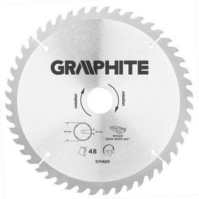 Körfűrésztárcsa, körfűrészlap 216 mm / 30 mm Z48 | GRAPHITE 57H680
