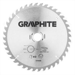 Körfűrésztárcsa, körfűrészlap 255 mm / 30 mm Z40 | GRAPHITE 57H686