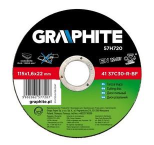 Vágókorong 115 mm x 1,6 mm kőhöz   GRAPHITE 57H720