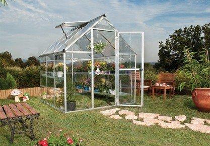 HYBRID 6 x 6 láb polikarbonát üvegház, 190 cm x 185 cm x 209 cm melegház | PALRAM 701616