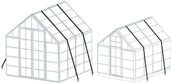 Rögzítõ rendszer Palram polikarbonát üvegházakhoz | PALRAM 702771