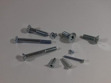 Süllyesztett fejû, belsõ kulcsnyílású csavar M6 x 10 mm, 8.8 horganyzott DIN 7991
