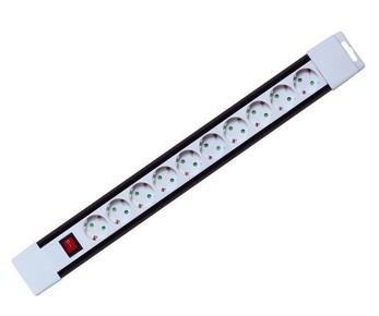 Elosztó, hosszabbító 10-es 2 m kapcsolóval fehér | PNV 10K/WH