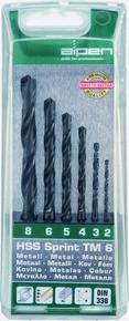 Fémfúrószár készlet 2 mm - 8 mm HSS Sprint TM6, 6 részes   ALPEN 0000801122100