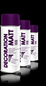 DECO COLOR Decoration Matt festék spray 400 ml kék RAL 5005 professzionális   DECO COLOR D195005