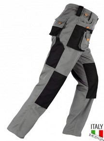 Munkavédelmi nadrág SMART szürke/fekete M-es | KAPRIOL 31916