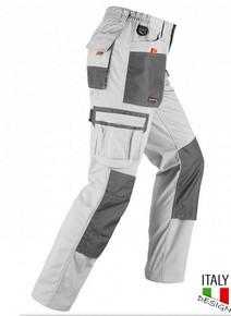 Munkavédelmi nadrág SMART fehér/szürke L-es | KAPRIOL 32472