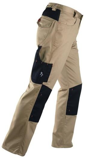 Munkavédelmi nadrág KAVIR beige/fekete XL-es   KAPRIOL 31333