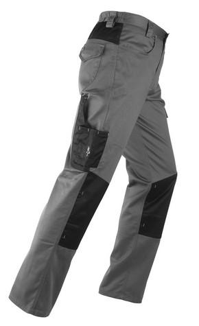Munkavédelmi nadrág KAVIR szürke/fekete L-es   KAPRIOL 31338