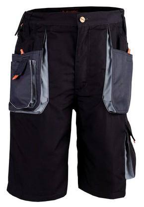 Munkavédelmi rövidnadrág SMART szürke/fekete XL-es | KAPRIOL 31722