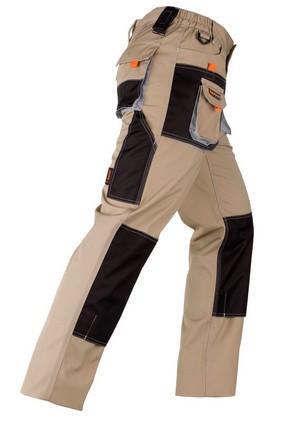 Munkavédelmi nadrág SMART beige/fekete L-es | KAPRIOL 31751