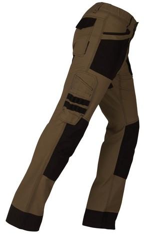 Munkavédelmi nadrág ACTIVE barna/fekete XXL-es | KAPRIOL 32050