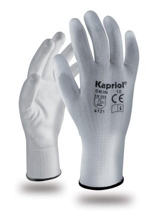 Védőkesztyű Skin fehér színű 10-es méret 6 pár | KAPRIOL 89014