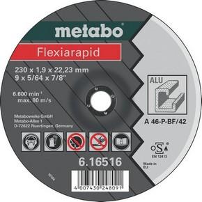 Vágókorong 125 mm x 1,0 mm x 22,23 mm Flexiarapid vágótárcsa alumíniumhoz | METABO 616513000