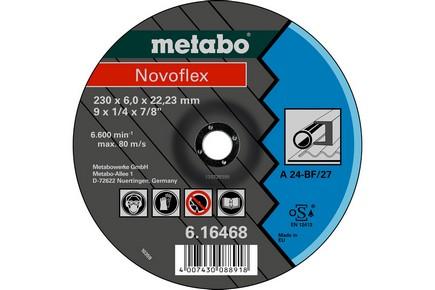 Vágótárcsa, vágókorong Novoflex 125 mm x 6,0 mm x 22,2 mm acél | METABO 616462000