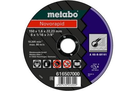 Vágókorong novorapid 150 mm x 1,6 mm x 22,23 fémhez | METABO 616507000