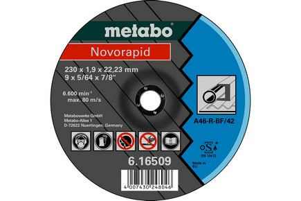 Vágókorong 180 mm x 1,6 mm x 22,23 fémhez | METABO 616508000