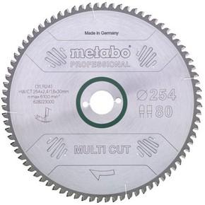 Körfűrésztárcsa, körfűrészlap MULTI PROFESSIONAL 216 mm x 2,4 mm x 30 mm Z60 FZ/TZ, 5°neg. | METABO 628083000