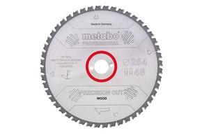 Körfűrésztárcsa, körfűrészlap 254 mm x 2,4 mm x 30 mm 48WZ  | METABO 628221000