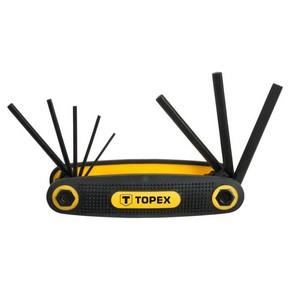 Imbuszkulcs készlet 1,5 mm - 5,6 mm 8 részes bicskás | TOPEX 35D958